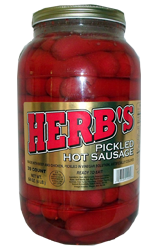 Pickled Hot Sausages